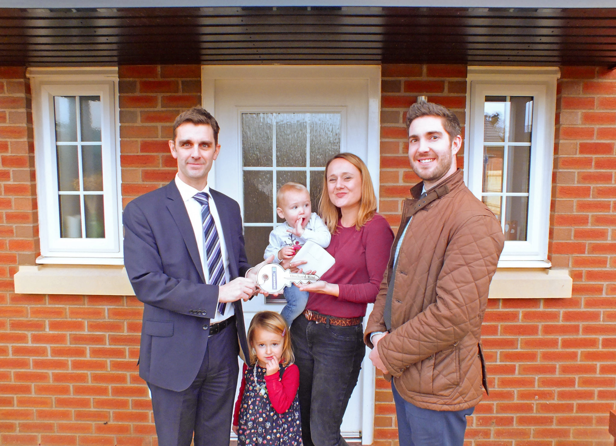 First occupiers at Orchard Rise