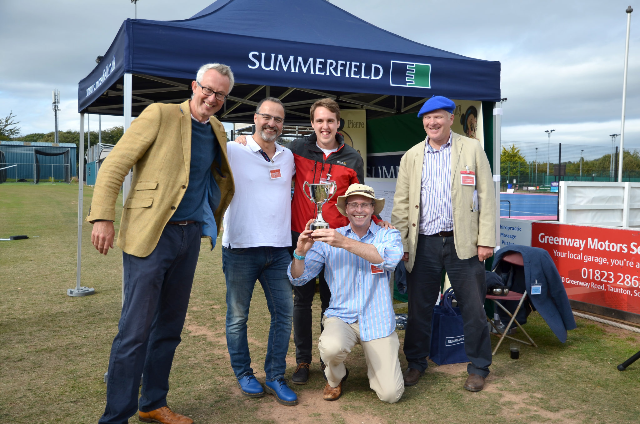 Cup Winners 'HyperBOULEE', the Foot Anstey team, with Summerfield Managing Director Mark Blackwell